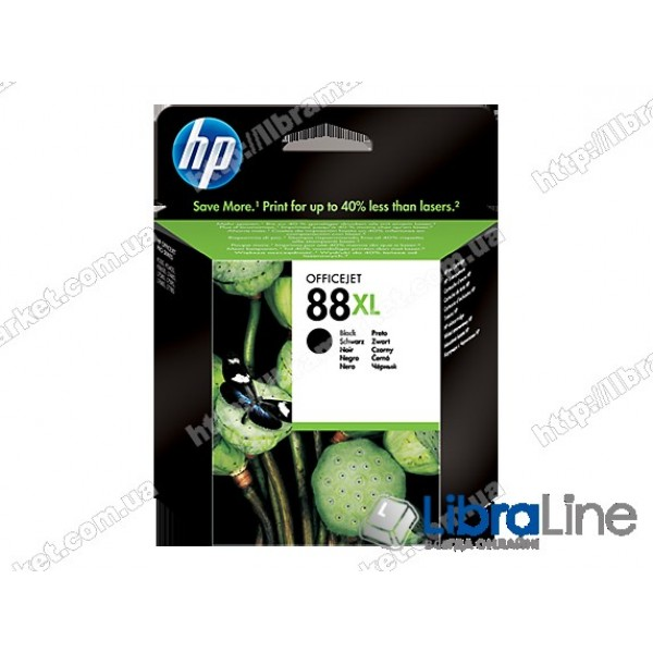 C9396AE, HP 88XL, Оригинальный струйный картридж HP увеличенной емкости, Черный
