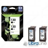 C9504HE, HP 130, Упаковка 2шт, Оригинальные струйные картриджи HP, Черные