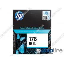 CB316HE, HP 178, Оригинальный струйный картридж HP, Черный