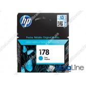 CB318HE, HP 178, Оригинальный струйный картридж HP, Голубой