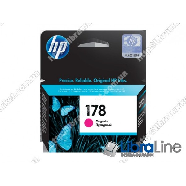 CB319HE, HP 178, Струйный картридж HP, Пурпурный