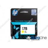 CB320HE, HP 178, Оригинальный струйный картридж HP, Желтый