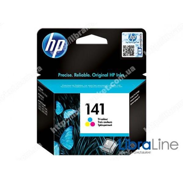 CB337HE, HP 141, Оригинальный струйный картридж HP, Трехцветный