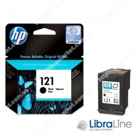 CC640HE, HP 121, Оригинальный струйный картридж HP, Черный