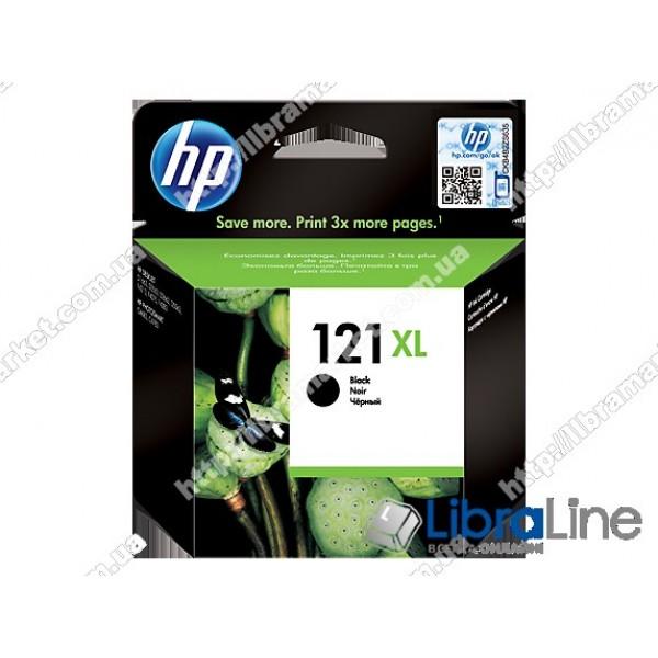 CC641HE, HP 121XL, Оригинальный струйный картридж HP увеличенной емкости, Черный