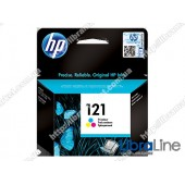 CC643HE, HP 121, Струйный картридж HP, Трехцветный