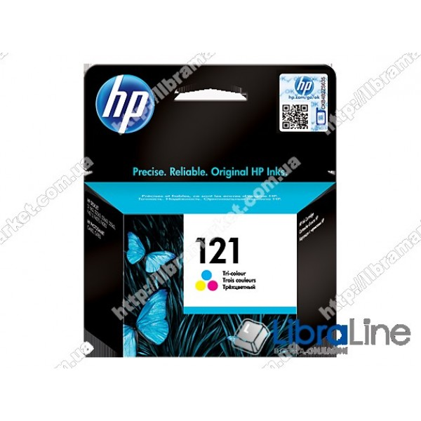 Струйный картридж HP, Трехцветный CC643HE, HP 121