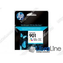 CC656AE, HP 901, Оригинальный струйный картридж HP, Трехцветный