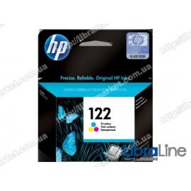 CH562HE, HP 122, Оригинальный струйный картридж HP, Трехцветный
