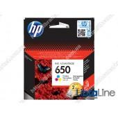 CZ102AE, HP 650, Cтруйный картридж HP Ink Advantage, Трехцветный