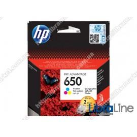 CZ102AE, HP 650, Оригинальный картридж HP Ink Advantage, Трехцветный
