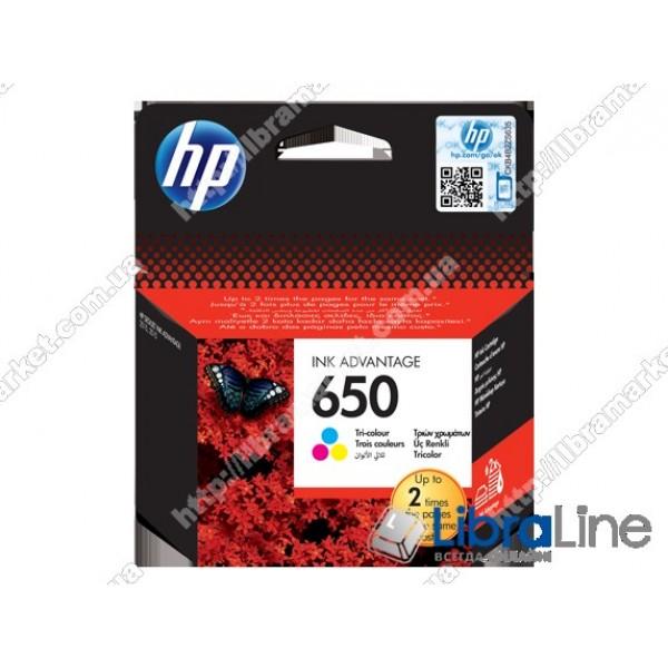 Cтруйный картридж HP Ink Advantage, Трехцветный CZ102AE, HP 650