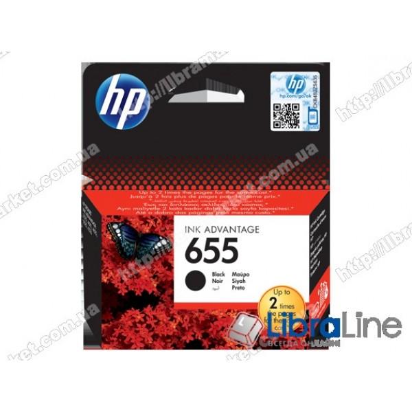 CZ109AE, HP 655, Оригинальный картридж HP Ink Advantage, Черный