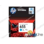 Cтруйный картридж HP Ink Advantage, Голубой CZ110AE, HP 655