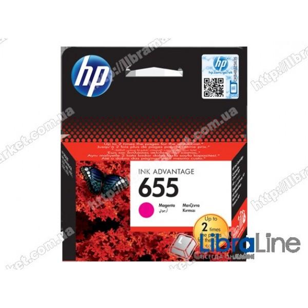 Cтруйный картридж HP Ink Advantage, Пурпурный CZ111AE, HP 655