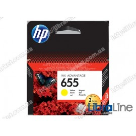 Cтруйный картридж HP Ink Advantage, Желтый CZ112AE, HP 655
