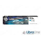 F6T77AE, HP 913A, Cтруйный картридж HP PageWide, Голубой
