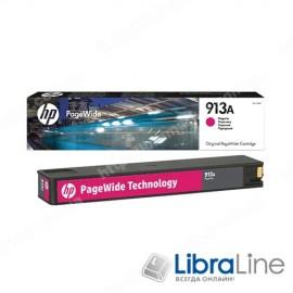 F6T78AE, HP 913A, Оригинальный картридж HP PageWide, Пурпурный