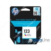 F6V16AE, HP 123, Cтруйный картридж, Трехцветный