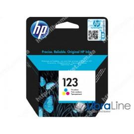 Купить F6V16AE, HP 123, Cтруйный картридж, Трехцветный