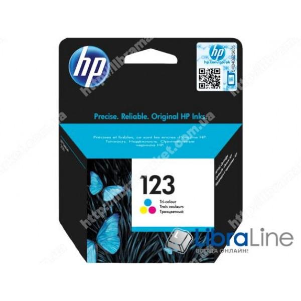 Cтруйный картридж, Трехцветный F6V16AE, HP 123