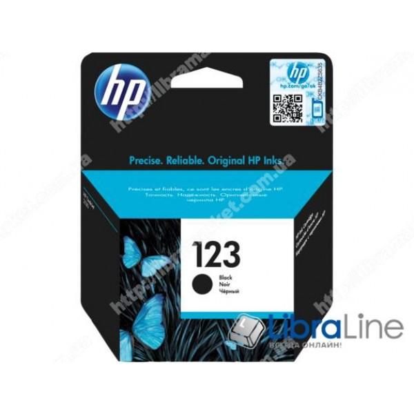 Купить F6V17AE, HP 123, Cтруйный картридж, Черный