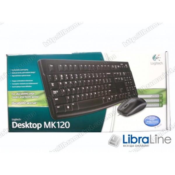 Комплект клавиатура + мышь Logitech MK120 Black (USB)