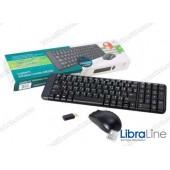 Комплект клавиатура + мышь Logitech MK220 Black (Wireless)