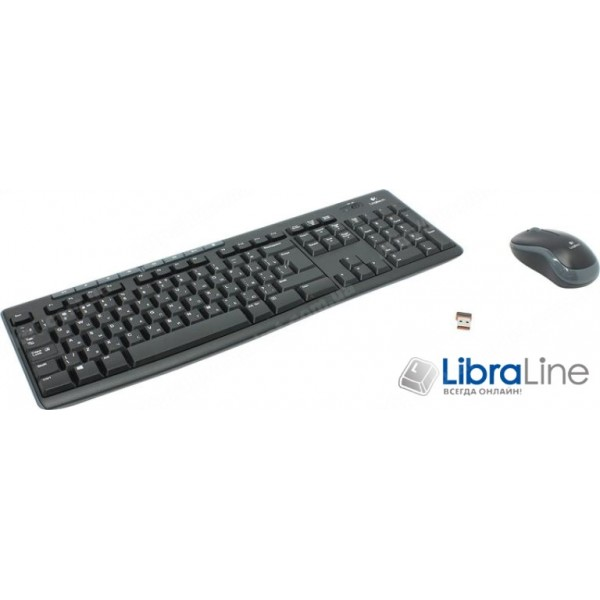 Комплект клавиатура + мышь Logitech MK270 Black Wireless