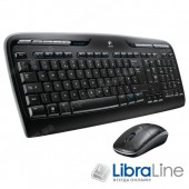 Комплект клавиатура + мышь Logitech Cordless Desktop MK330 black USB, Wireless 920-003995