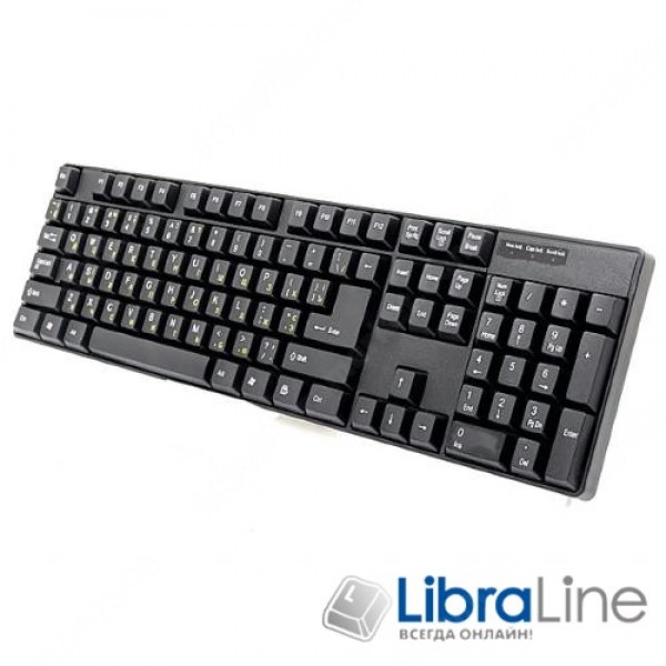 Клавиатура Gembird KB-103-UA black ps/2