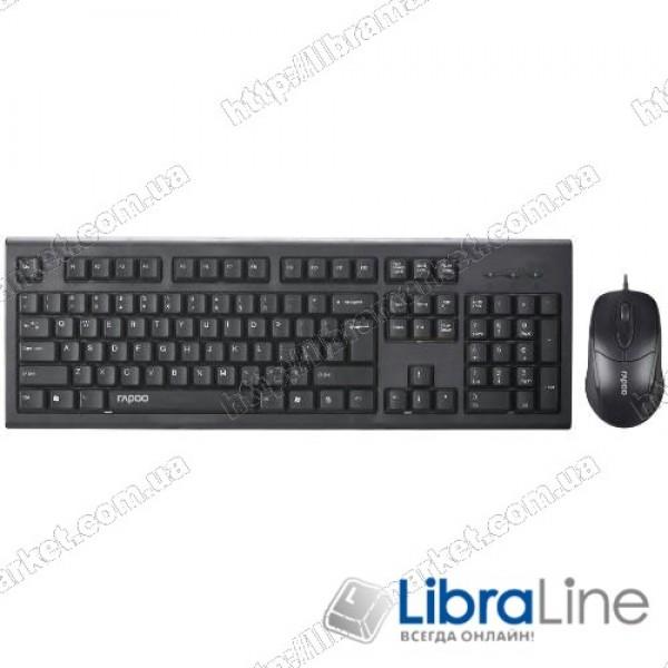 Комплект клавиатура + мышь Rapoo NX1750 black (USB)
