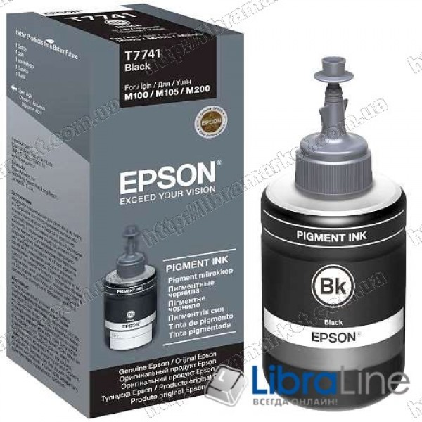 C13T77414A Контейнер с пигментными чернилами  EPSON M100 Black Pigment