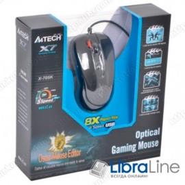 Мышь A4Tech X-705K Black (3XFire, 2000dpi, USB)