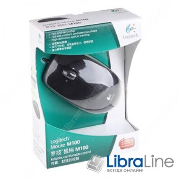 Компьютерная мышь Logitech M100 Black USB