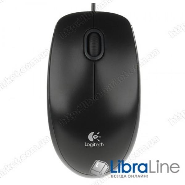 Мышь Logitech B100 Black (USB)
