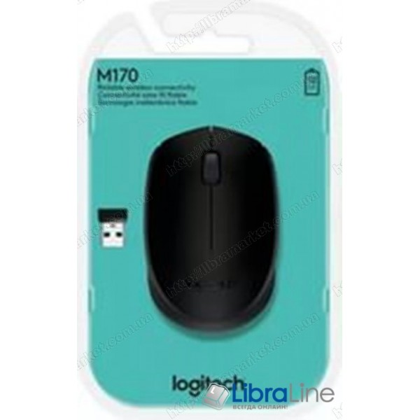 Мышь Logitech M171 WL Grey/Black (USB,wireless)