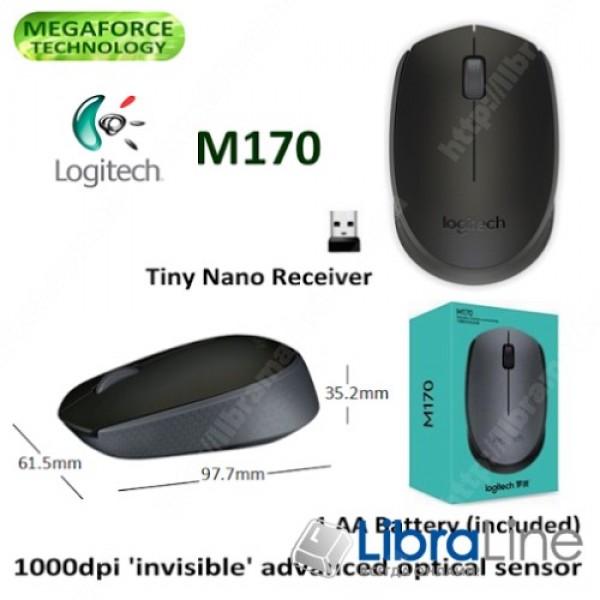 Компьютерная мышь Logitech M170 Grey / Black USB, wireless, 910-004642