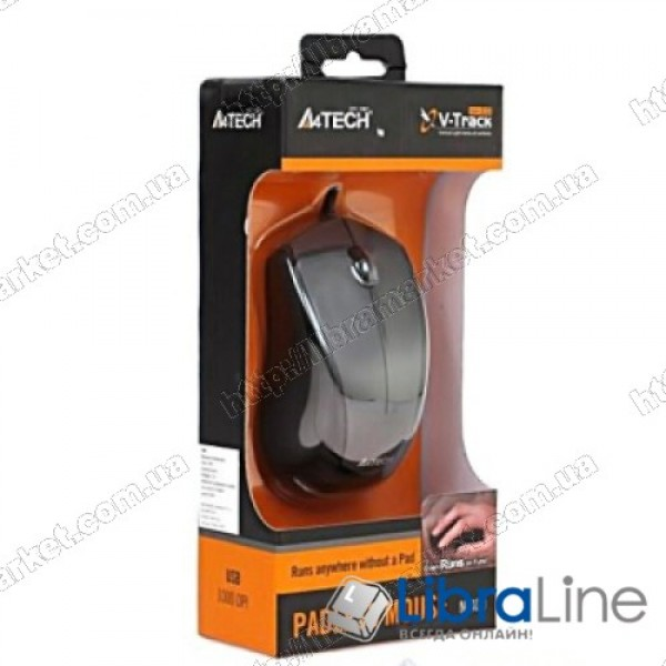 Мышь A4-Tech N-400-1 grey (USB)