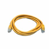 Патчкорд Kingda CAT5e, UTP 1м (PAUT3100-Yl) желтый