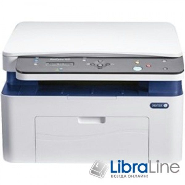 3025V_NI МФУ лазерное А4 Xerox WC 3025NI 21 стр/мин,600х600, USB 2.0, Ethernet, Wi-Fi,15 тис. стр./мин