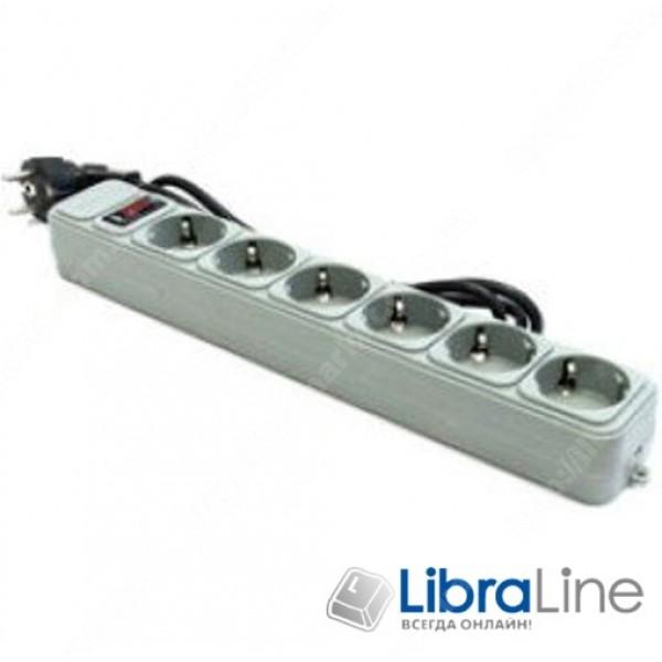 Сетевой фильтр, удлинитель 3 м Gembird SPG6-G-10B 6 розеток