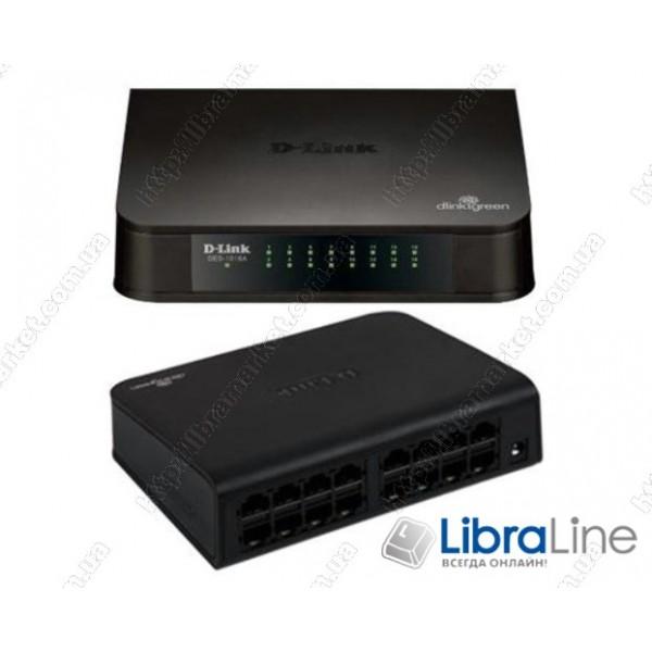 Коммутатор D-Link DES-1016A 16port 10/100Mбит