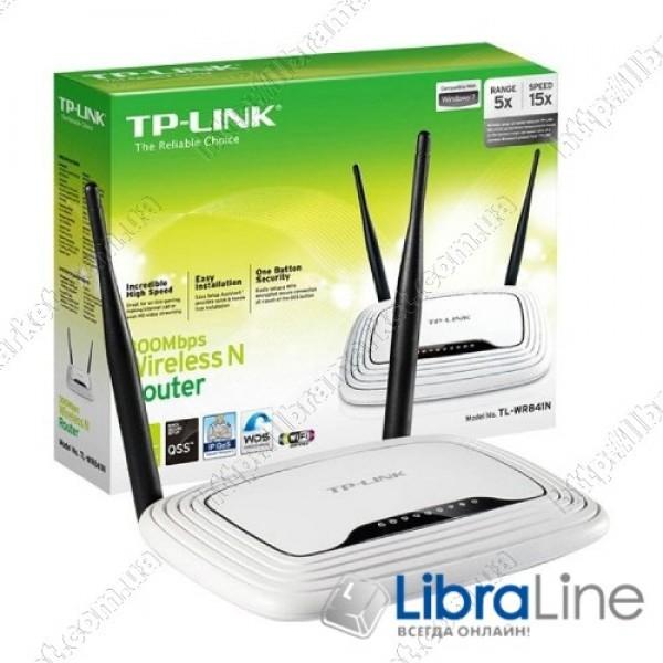 WiFi маршрутизатор TP-Link TL-WR841N 300Mbps 2 антенны