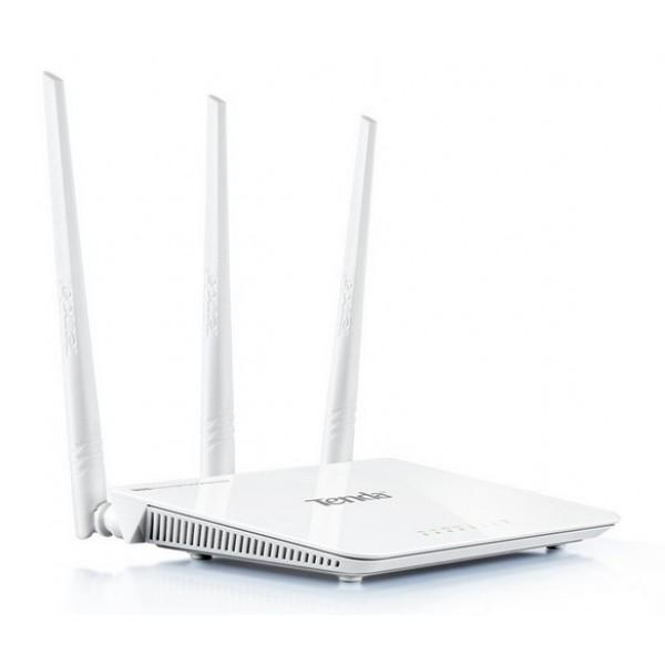 Роутер TENDA F3 802.11n N300 3xFE LAN, 1xFE WAN, Wi-Fi антенны 3x5dBi