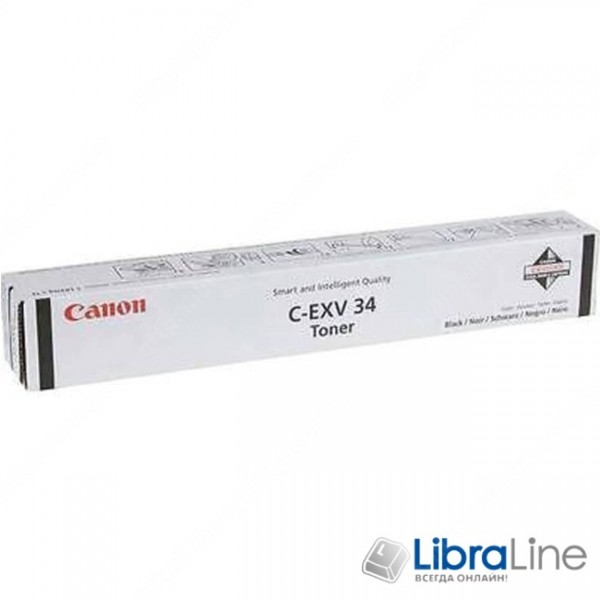 Купить C-EXV34 3782B002AA Тонер - туба CANON iRC2020 / 2030 23K Black