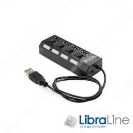 Концентратор Gembird UHB-U2P4-02 на 4 порта USB 2.0 Hub