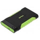 """SP010TBPHDA15S3K Винчестер USB 3.0 SiliconPower Armor A15 1Tb 2.5"""" Black-green"""