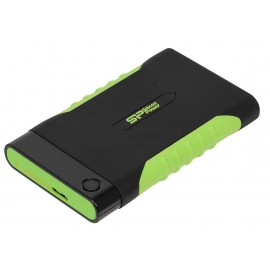 "SP010TBPHDA15S3K Винчестер USB 3.0 SiliconPower Armor A15 1Tb 2.5"" Black-green"