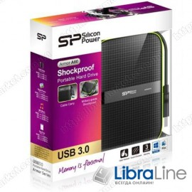 "SP500GBPHDA60S3K Винчестер USB 3.0 SiliconPower Armor A60 500Gb 2.5"" black"